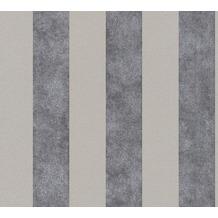 Livingwalls Vliestapete Trendwall Tapete mit Blockstreifen beige grau schwarz 372711 10,05 m x 0,53 m