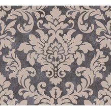 Livingwalls Vliestapete Trendwall Tapete mit Ornamenten barock beige metallic schwarz 372704