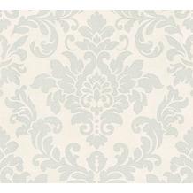 Livingwalls Vliestapete Trendwall Tapete mit Ornamenten barock grau metallic weiß 372702 10,05 m x 0,53 m