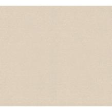 Livingwalls Vliestapete Trendwall Tapete Uni beige creme metallic 372724 10,05 m x 0,53 m