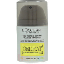 L'Occitane Cedrat Global Face Gel For Men Hydrating Mattifying Energizing Suitable For Normal To Combination Skin, Feuchtigkeitsgel 50 ml