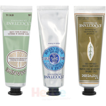 L'Occitane Soft Hands Trio Set Shea Hand Cream 30ml/Verbena Hand Cream 30ml/Delicious Almond Hand Cream 30ml
