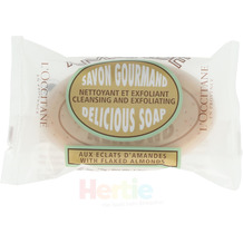 L'Occitane With Flaked Almond Delicious Soap Cleansing And Exfoliating, Seifenstück 50 gr
