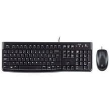 Logitech® Tastatur/Maus MK120, USB, Optisch Schwarz, 1000 dpi, 3 Tasten, Retail