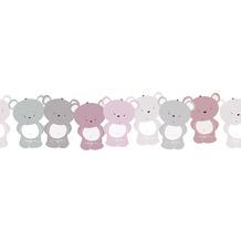 Lovely Kids selbstklebende Kinderzimmer Bordüre Cute Bears rosa grau weiß 403739 5,00 m x 15,5 cm