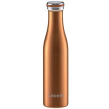 Lurch Isolier-Flasche MIT GRAVUR (z.B. Namen) 750ml bronze-metallic aus Edelstahl Thermoflasche hält bis zu 12 Stunden heiß oder kalt