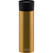 Lurch Isolierbecher MIT GRAVUR (z.B. Namen) 500ml columbia gold aus Edelstahl Thermobecher hält bis zu 12 Stunden heiß / 24 Stunden kalt