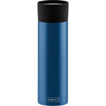 Lurch Isolierbecher MIT GRAVUR (z.B. Namen) 500ml denim blue blau aus Edelstahl Thermobecher hält bis zu 12 Stunden heiß / 24 Stunden kalt