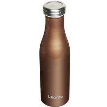 Lurch Isolierflasche MIT GRAVUR (z.B. Namen) 0,5l bronze-metallic, 100% dicht, 500ml Edelstahl