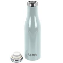 Lurch Isolierflasche MIT GRAVUR (z.B. Namen) 0,5l mint, 100% dicht, Thermo-Flasche 500ml Edelstahl