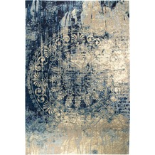 Luxor Living Vintage-Teppich Barock, blau-beige 80 x 150 cm