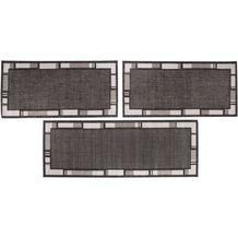 Luxor Living Bettumrandung New Orleans anthrazit/ silber Bettumrandung 2x 67x140 1x 67x180cm
