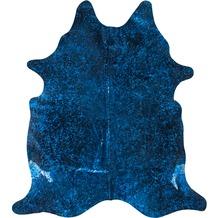 Luxor Living Rinderfell Pop Art blau-schwarz 3-5m² 3-5 qm