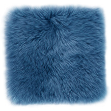 Luxor Living Sitzkissen Schaffell blau 34 x 34