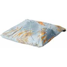 MADISON Dotan blau Outdoor Zierkissen 50x50 Stoff wasserdicht, Bezug 50% Baumwolle / 45% Polyester