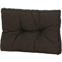 MADISON Loungekissen 60x43 cm,Rib black Universal-Rückenkissen