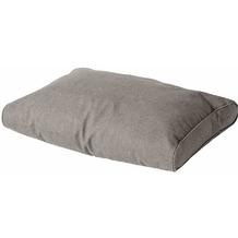 MADISON Paletten-Rückenkissen Oxford, grau wetterfest, 50% Baumwolle / 45% Polyester
