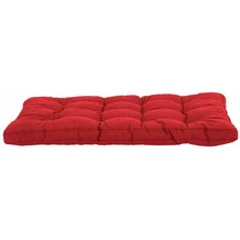 MADISON Paletten-Sitzkissen Basic, rot 50% Baumwolle / 50% Polyester
