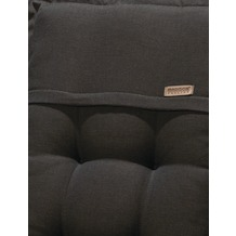 MADISON Rib black Hockerauflage 100% Acryl