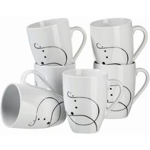 Mäser Chanson, Kaffeebecher, große Porzellan Tassen im 6-er Set