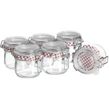 Mäser Ermetico, Einmachglas 200 ml im 6er-Set, Vorratsgläser mit Deckel und Bügelverschluss, Glas