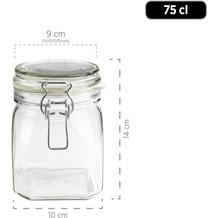 Mäser Gothika, Einmachgläser 6er-Set 0,75-1,45 Liter, inkl. 10 Ersatz-Dichtringe, Glas, transparent