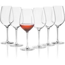 Mäser IL PREMIO Roséweingläser 6er Set, Kristallgläser Wein für Weißwein, Rosé, Weinschorle und Spritzer, mittelgroße Weingläser aus Kristallglas, Weinglas mit Stiel 44 cl Transparent