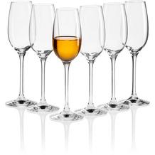 Mäser IL PREMIO Spirituosen-Gläser 6er Set, Kristall Schnapsgläser mit Stiel, Pinnchen Kristallgläser für alkoholische Spezialitäten wie Schnäpse, Weinbrand und Likör, Schnaps-Kelch 13 cl Transparent