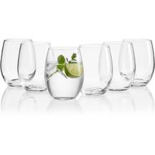 Mäser IL PREMIO Wassergläser 6er Set, Trinkgläser aus Kristallglas, Mehrzweckgläser spülmaschinenfest