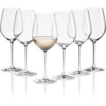 Mäser IL PREMIO Weißweingläser 6er Set, Kristallgläser Wein für Weißwein, Rosé, Weinschorle und weißen Spritzer, kleine Weingläser aus Kristallglas, Weinglas mit Stiel 35 cl Transparent