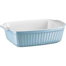 Mäser Kitchen Time, Auflaufform klein, rechteckig, kratz- und schnittfeste eckige Ofenform, Keramik, Blau