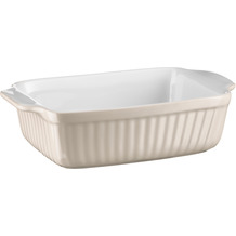 Mäser Kitchen Time, Auflaufform klein, rechteckig, kratz- und schnittfeste eckige Ofenform, Keramik, Grau
