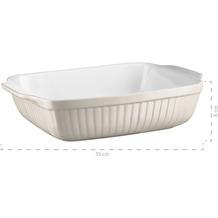 Mäser Kitchen Time, Auflaufform rechteckig, kratz- und schnittfeste eckige Ofenform, Keramik, Grau