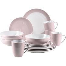 Mäser Kitchen Time II, Kombiservice 16-teilig Rosa mit dezentem Muster