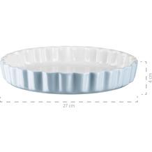 Mäser Kitchen Time, Tarteform, Quicheform, runde Backform, kratz- und schnittfest, Ø 27 cm, Keramik, Blau
