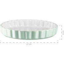 Mäser Kitchen Time, Tarteform, Quicheform, runde Backform, kratz- und schnittfest, Ø 27 cm, Keramik, Grün