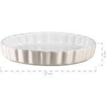 Mäser Kitchen Time, Tarteform, Quicheform, runde Backform, kratz- und schnittfest, Ø 27 cm, Keramik, Grau