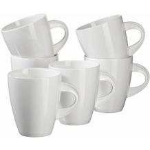 Mäser La Musica, Kaffeebecher 400 ml, Porzellan Kaffeetassen im 6er-Set