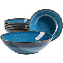 Mäser Ossia Bowl-Set aus Keramik 7-teilig blau