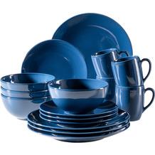 Mäser Ossia Basic Kombiservice für 4 Personen 16-teilig dunkelblau mit moderner randloser Formsprache