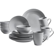Mäser Pastell Collection Kombiservice für 4 Personen 16-teilig grau