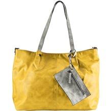 Maestro Surprise 16 Bag in Bag Shopper Tasche 45 cm gelb hellgrau