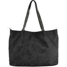 Maestro Surprise Bag in Bag Shopper Tasche 45 cm schwarz grau