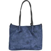 Maestro Surprise Bag in Bag Shopper Tasche 35 cm blau grau