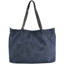 Maestro Surprise Bag in Bag Shopper Tasche 45 cm blau grau