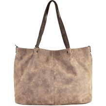 Maestro Surprise Bag in Bag Shopper Tasche 45 cm taupe braun