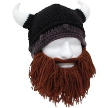 Mags Beard head - Bartmütze mit braunem Bart