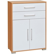 MAJA Möbel Aktenregal Buche - weiß Hochglanz 800 x 1097 x 400 mm