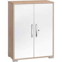 MAJA Möbel Aktenregal Edelbuche - weiß Hochglanz 800 x 1097 x 400 mm