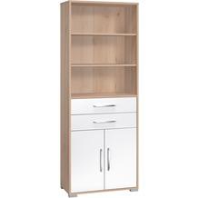 MAJA Möbel Aktenregal Edelbuche - weiß Hochglanz 800 x 2144 x 400 mm